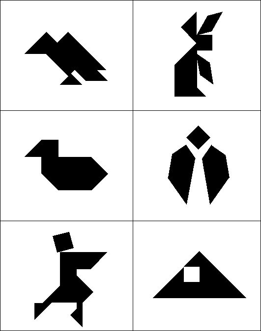 It is a picture of Versatile Printable Tangram Puzzles