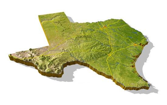 Landform Map Of Texas